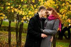 Love couple tenderly embracing each other Royalty Free Stock Photos