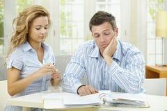 Love couple thinking Stock Image