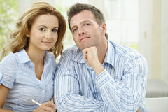 Love couple thinking Royalty Free Stock Photography