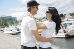 Love couple, travel, tourism and people concept Stock Photo