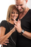 Love Couple, true love, hand in hand, in the studio Royalty Free Stock Image