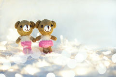 Love couple valentine bears Stock Images