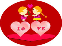 Love couple on Valentine day Stock Images