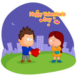Love couple in Valentine's day Royalty Free Stock Image