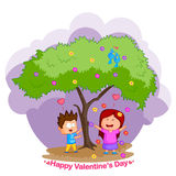 Love couple in Valentine's day Royalty Free Stock Images