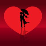 Love couple in valentines day. Love couple kissing in valentines day. Vector illustration. EPS 10 Royalty Free Stock Photos