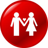 Love couple vector button Royalty Free Stock Photos