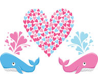 Love Couple Whale Stock Image