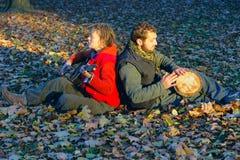 Love couple of young musicians Stock Photos