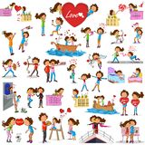 Love couples doing different activities Royalty Free Stock Images