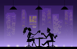 Love couples  at night. Stock Photos