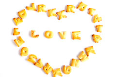 Love cracker isolated. Royalty Free Stock Image