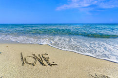 LOVE, creative abstract graphic message for your summer design