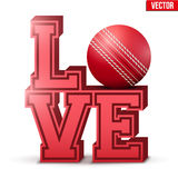 Love cricket inscription. Royalty Free Stock Photography