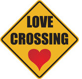 Love crossing sign stock photo