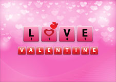Love Crossword in heart bokeh background Royalty Free Stock Image