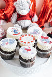 Love cup cakes Royalty Free Stock Photos