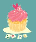 Love cupcake Royalty Free Stock Photo