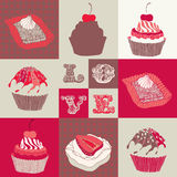 Love cupcakes. Royalty Free Stock Photos