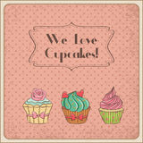 We love cupcakes royalty free illustration
