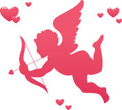 Love Cupid. Illustration of cupid with bow and arrow Royalty Free Stock Photos