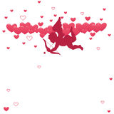 Love Cupid. Illustration of cupid with bow and arrow Stock Images