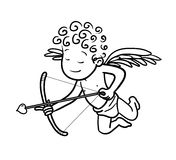 Love Cupid With Arrow Doodle Stock Photography
