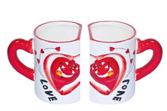 Love cups. Two pieces of love cops Royalty Free Stock Photo