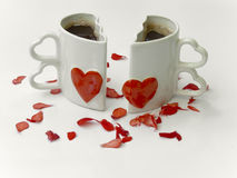 Love cups of coffee Royalty Free Stock Images