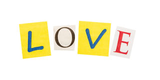 Love cut out of letters Royalty Free Stock Photo