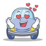 In love cute car character cartoon Stock Image