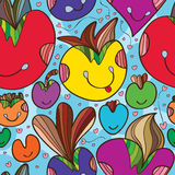 Love cute happy seamless pattern Stock Image