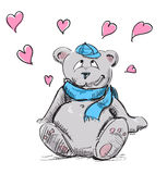 In love cute teddy bear Stock Image
