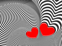 Love 3d background with a hearts. Hypnotic love 3d background with a hearts Stock Images