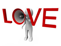 Love 3d Character Shows Romance Loving And Feelings Royalty Free Stock Photography