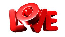 Love 3D.with clipping path vector illustration
