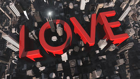 Love. 3d design. Love and city Stock Photos