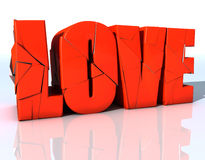 Love. 3d design of an word and very much colorful Royalty Free Stock Photography