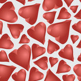 Love 3d hearts seamless pattern  Stock Image