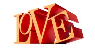 Love - 3D Rendering Royalty Free Stock Photography