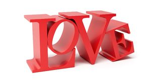 Love - 3D Rendering Stock Image