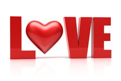 Love 3d text. Relationship concept Royalty Free Stock Images