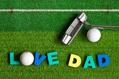 Love dad Royalty Free Stock Image