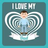 Love dad design Royalty Free Stock Image