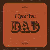 Love Dad Stock Images
