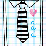 Love dad necktie Royalty Free Stock Images