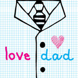 Love dad necktie and suit Stock Photo