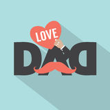 Love Dad Typography Design. Vector Illustration Stock Photography