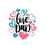 Love Dad, vector calligraphic inscription for greeting card, festive poster etc. Happy Fathers Day hand lettering. Love Dad, vector calligraphic inscription for Stock Images