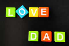 Love dad Royalty Free Stock Images